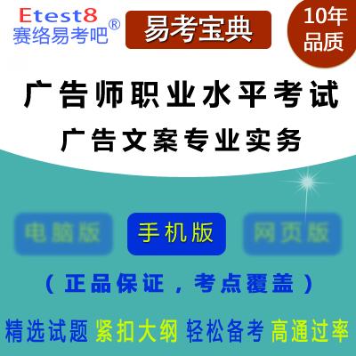 2019年广告师职业水平考试(广告文案专业实务)题库