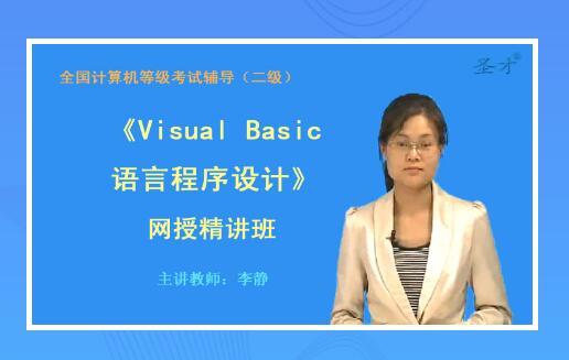 网授精讲班2020二级Visual Basic语言程序设计